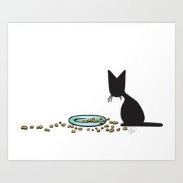 Anytime Dinnertime   (The Naughty Kitten) Art Print