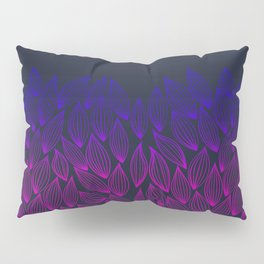 Autumn blue-pink leaf fall. Pillow Sham