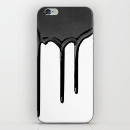 Black paint drip iPhone Skin