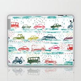 cars in the rain Laptop & iPad Skin
