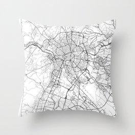 Dijon Map White Throw Pillow