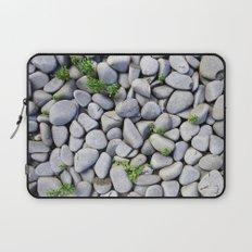 Sea Stones - Gray Rocks, Texture, Pattern Laptop Sleeve