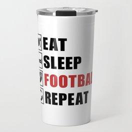 American Football Repeat Team Game USA Gift Idea Travel Mug