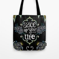 spice Tote Bags featuring Spice by Melinda Francis