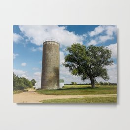 Farm Scene in Murdock Kansas Metal Print