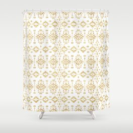Luxury gold geometric tribal Aztec pattern Shower Curtain