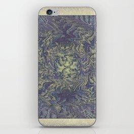 DISTORTED PASTEL PURPLE BRACKEN FERNS iPhone Skin