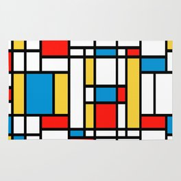 Tribute to Mondrian No2 Rug