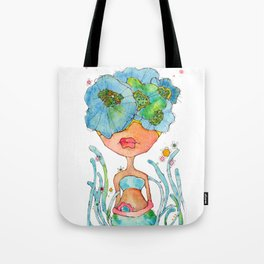 blue girl -- she's a gentle one. Tote Bag