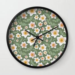 Dancing Daffodils Wall Clock