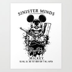 Sinister Minds. Mickey Art Print