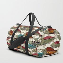 Alaskan salmon pearl Duffle Bag