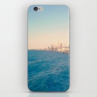 cleveland iPhone & iPod Skins featuring Cleveland Skyline  by Julia Blanchette