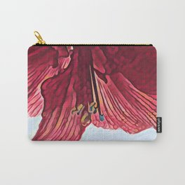 Red Flower in Vermont Winter Carry-All Pouch