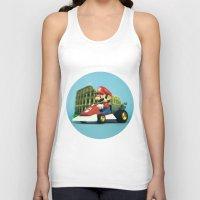 mario kart Tank Tops featuring Super Mario: the homecoming by josemanuelerre
