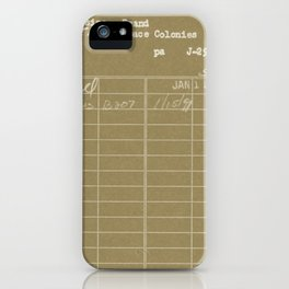 Library Card 797 Negative Brown iPhone Case