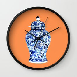GINGER JAR NO 6 TANGERINE Wall Clock