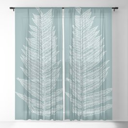 Modern Minimalist Botanical Sheer Curtain