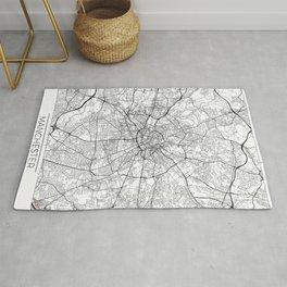 Manchester Map White Rug