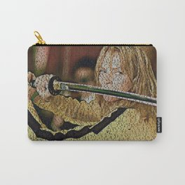 Text Portrait of Beatrix Kiddo with full script of Kill Bill Carry-All Pouch
