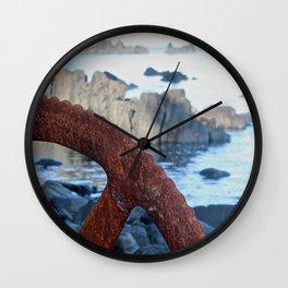 Rusty Wheel Photography Print Wall Clock