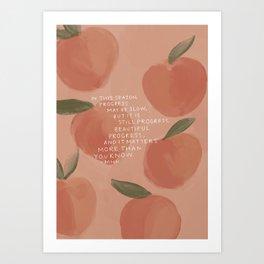Progress, Beautiful Progress Art Print
