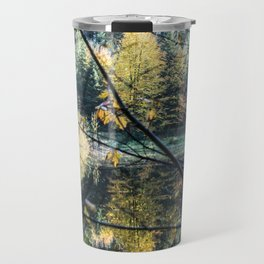 French lake in autumn Travel Mug