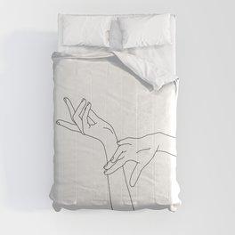 Hands line drawing illustration - Dana Comforters
