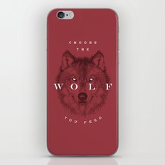 Choose the Wolf You Feed iPhone & iPod Skin
