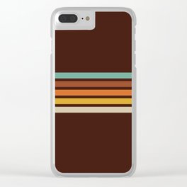 Wanderlust Retro Stripes Clear iPhone Case