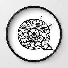Letter Q Wall Clock