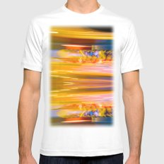 Night Light 131 - Roller Coaster Mens Fitted Tee White MEDIUM