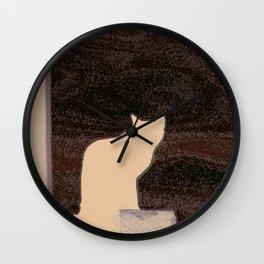 cat's shadow Wall Clock