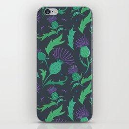 Scottish Thistle Pattern iPhone Skin