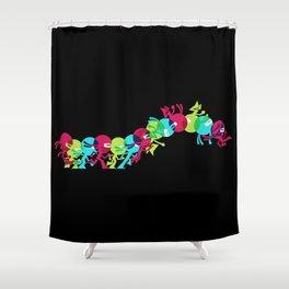 ninja moves (black) Shower Curtain