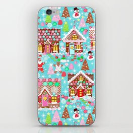 Gingerbread House Christmas Winter Candy, sweets.christmas gift, holiday gift for kids of all ages, iPhone Skin