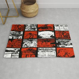 RED & WHITE - A nne Frankenstein Book I - Resurrection Rug