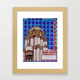 Senator Theatre Framed Art Print