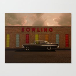 A good parking spot for an Edsel Canvas Print