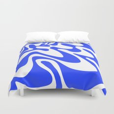 Swirly Whirly: Abstract Pop Art Painting by Bruce Gray Duvet Cover