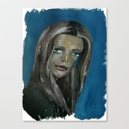 Sad Girl Portrait Canvas Print