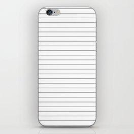 White Black Lines Minimalist iPhone Skin
