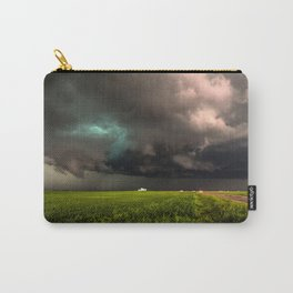 May Thunderstorm - Twisting Storm Over House in Colorado Carry-All Pouch