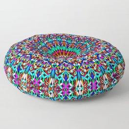 Colorful Life Garden Mandala Floor Pillow
