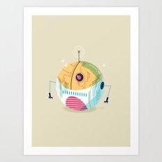 :::Mini Robot-Sfera2::: Art Print
