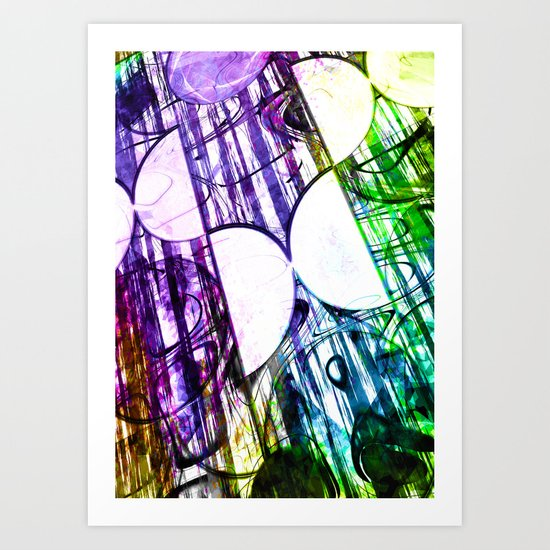 Half circles Art Print