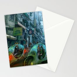 GREEN ROAD  -  city street scene Stationery Cards