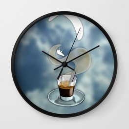 Paragliding: take a coffe! I love thermal Wall Clock