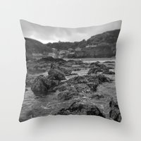 agnes cecile Throw Pillows featuring St Agnes From The Sea by Mark Nelson