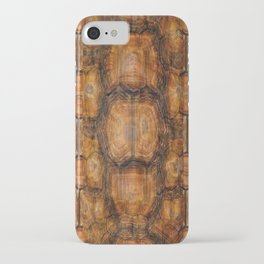 Brown Patterned  Organic Textured Turtle Shell  Design iPhone Case
